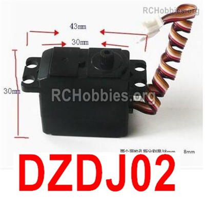 Subotech BG1525 WARRIOR DZDJ02 Servo device Parts.